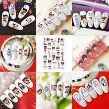 New Chinese Myth Nezha Nail Sticker 3D Waterproof Nail Decal Children Cartoon Cute Self-Adhesive Nail Art Sticker DIY Manicure 3d nail art fimo soft polymer clay fruit slices cartoon for nail manicure sticker cell phones diy designs wheel decoration czp35