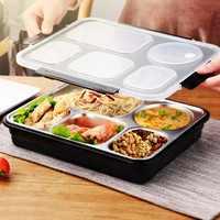 Top-Pranzo Bento Box di Isolamento In Acciaio Inox Piazza Contenitore di Conservazione Degli Alimenti A Tenuta con Sigillato il Vano per la Donna Uomo di Lavoro