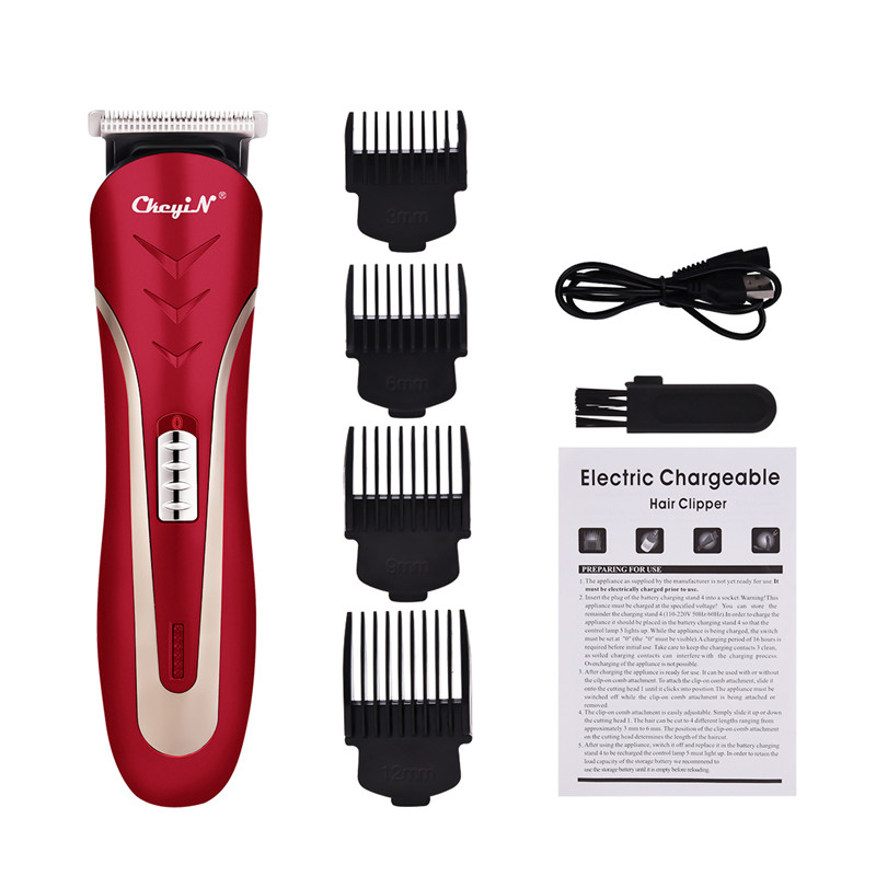 Cordless Rechargeable Hair Cutting Machine Hair Clipper Professional Hair Trimmer Electric Haircut Barber Tool  KM-1409