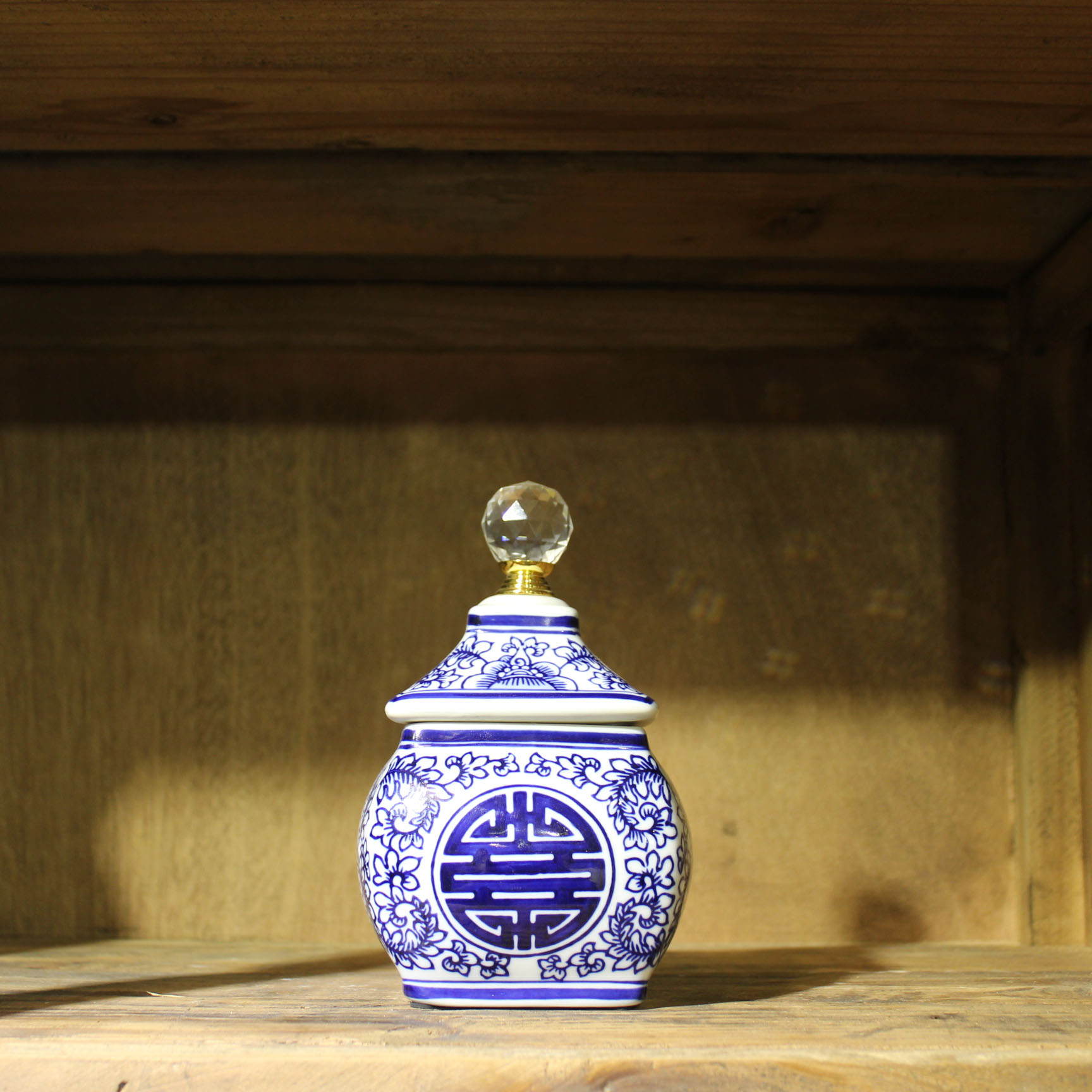 Ceramic canister, Ceramic pot, Blue and white