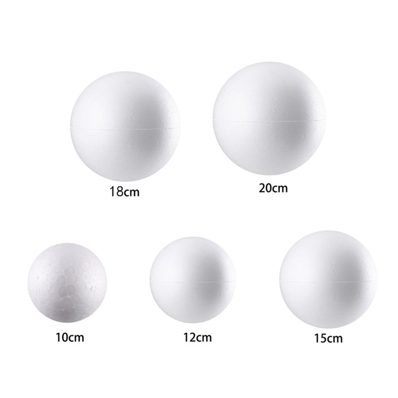 DIY Party Wedding Christmas Ball Spheres Decoration Crafts 10-20cm Modelling Polystyrene Foam Ball Decoration Supplies