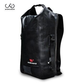 WOSAWE Waterproof Dry Backpack 24L Swimming Bag Rafting Kayaking River Trekking Bag Floating Sailing Trekking Shoulder Bag
