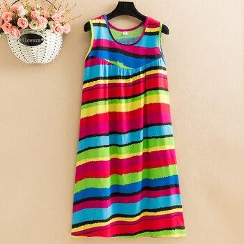 New 2021  women summer print nightdress casual o-neck casual sleeveless  Vestidos Vintage 1