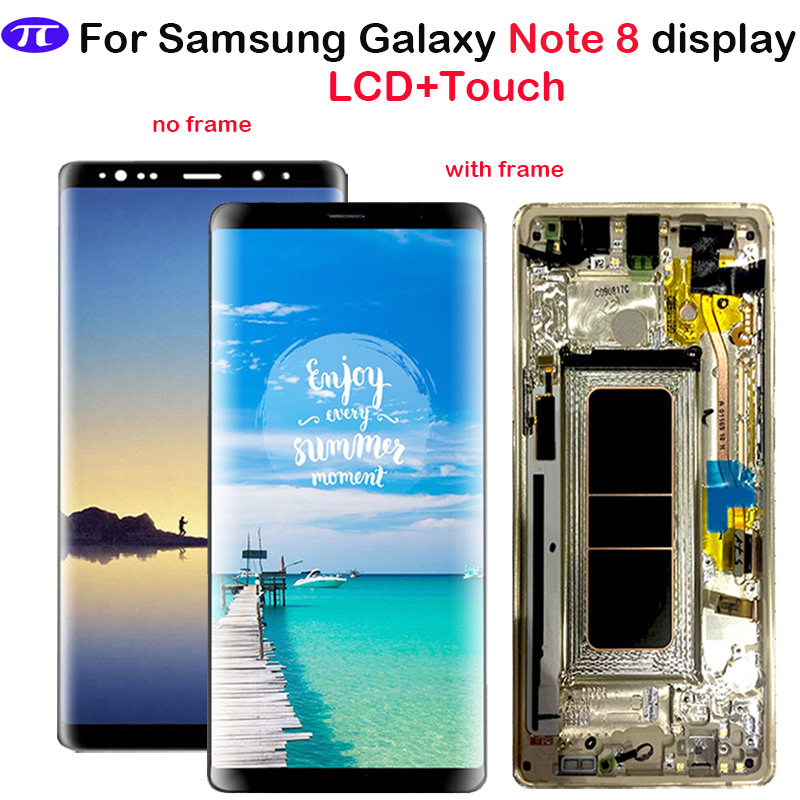 For Samsung Galaxy Note 8 LCD Display Touch Screen Digitizer Assembly with frame For Samsung N950