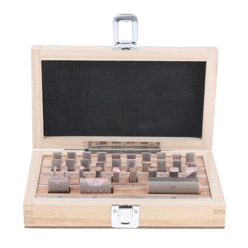 Promotion! 1.005-50mm Block Gauge 32Pcs/Set 0 Grade Inpsection Block Gauge Set Measurement Caliper Tool Set