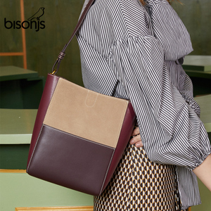 BISONJS Cow Leather Luxury Han