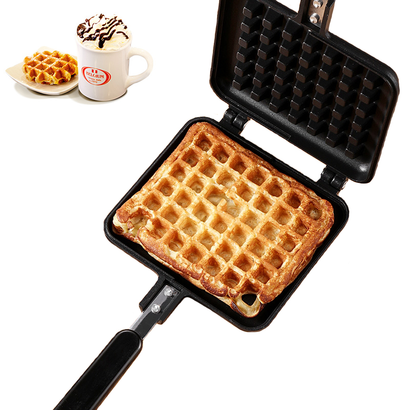 New Household Waffles Maker Pan Sandwich Iron Machine Non stick Aluminum Alloy Griddle Egg Cake Oven DIY Breakfast Machine in Waffle Makers from Home Appliances