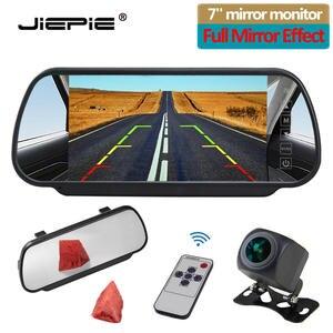JIEPIE Monitor-Kit Reversing-Camera Parking Car-Rear-View Night-Vision 7inch White