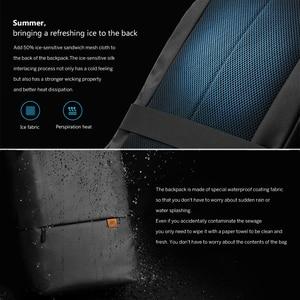 Image 5 - Original Xiaomi Simple Casual Backpack Large Capacity Travel Backpack Waterproof 15.6 inch Laptop  ice feeling fabric