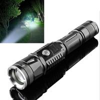 Strong Flashlight 400000LM LED Strong Light Flashlight Mulfuntion XML T6 L2 Torch Outdoor Zoom Waterproof Flashlight For Hiking|Outdoor Tools| |  -