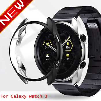 Case cover for samsung Galaxy Watch 3 46mm 42mm Gear S3 screen protector soft TPU plated All-Around protective face shell frames - discount item  50% OFF Watches Accessories