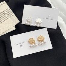 Statement Cloud Simulated Pearl Drop Earrings Big Metal Long Dangle Earrings Geometric Earring for Women Fashion Jewelry 2020 designer earring for women luxury long acrylic dangle earring beach statement shell geometric drop earrings fashion jewelry 2020