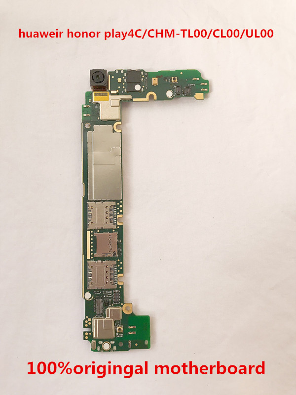 Full Working 100%Original Unlocked for huawei honor play 4C   CHM-UL00(8G)  Motherboard Motherboard Logic Mother Circuit Board P