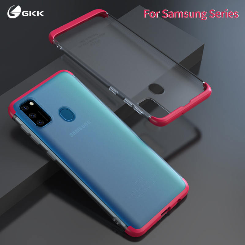 GKK Translucent Matte Case For Samsung Galaxy A20 A30 A50 A70 A80 M30s A30s A50s note 10 Plus Case Cover 3 in 1 Hard PC Coque image