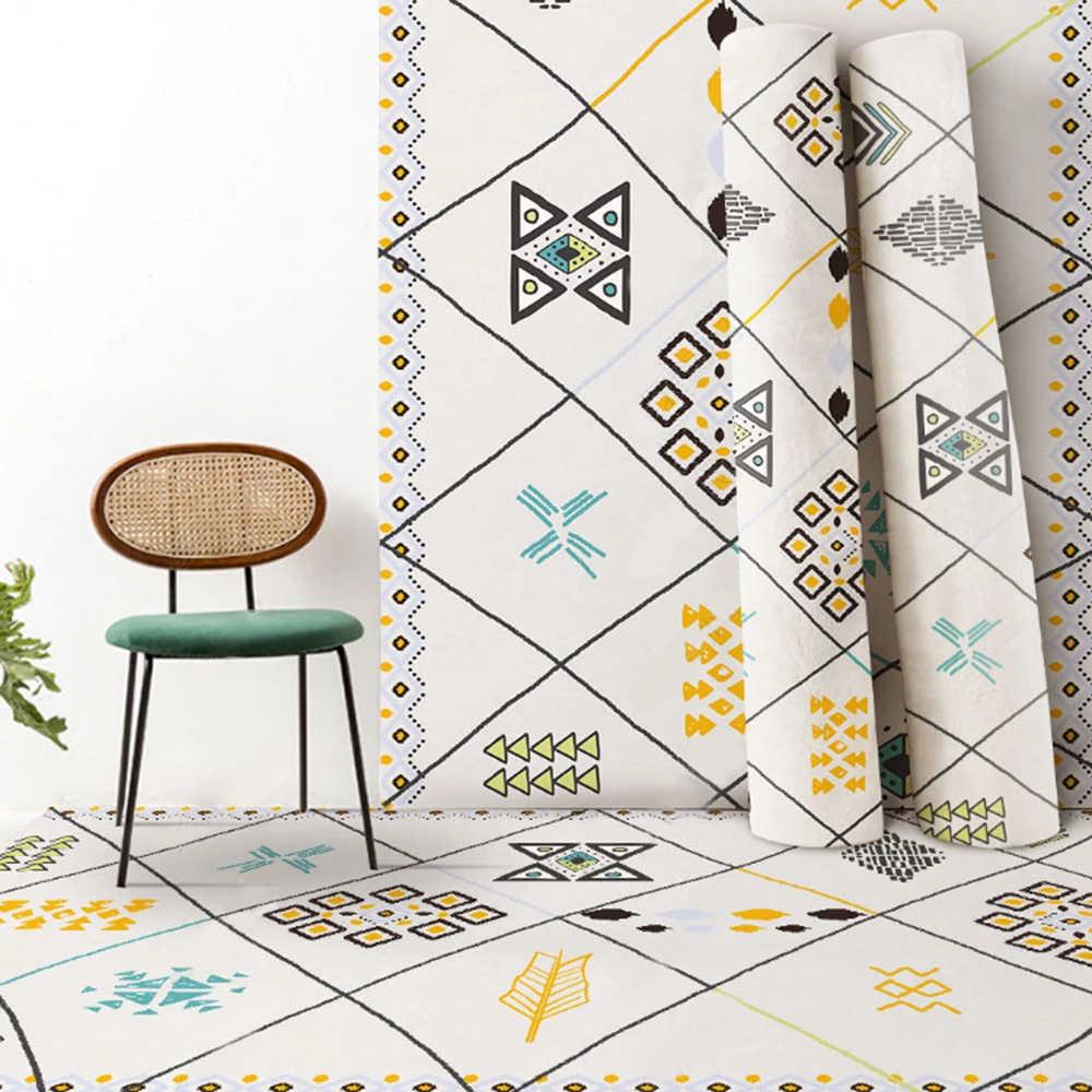 2020 보헤미안 카펫 인쇄 플란넬 지역 러그 룸 층 거실 용 비 슬립 인쇄 카펫 침실 홈 장식 카펫