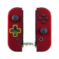 Soft Touch Red Controller Housing (D Pad Version) With Full Set Buttons DIY Replacement Shell Case for Nintendo Switch Joy Con