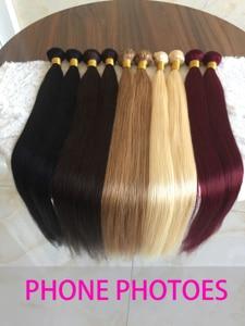 Прямые волосы Links 8- 30 дюймов 1/3/4 пряди, натуральные волосы #2 #4 #613, человеческие волосы для наращивания Remy, перуанские волосы