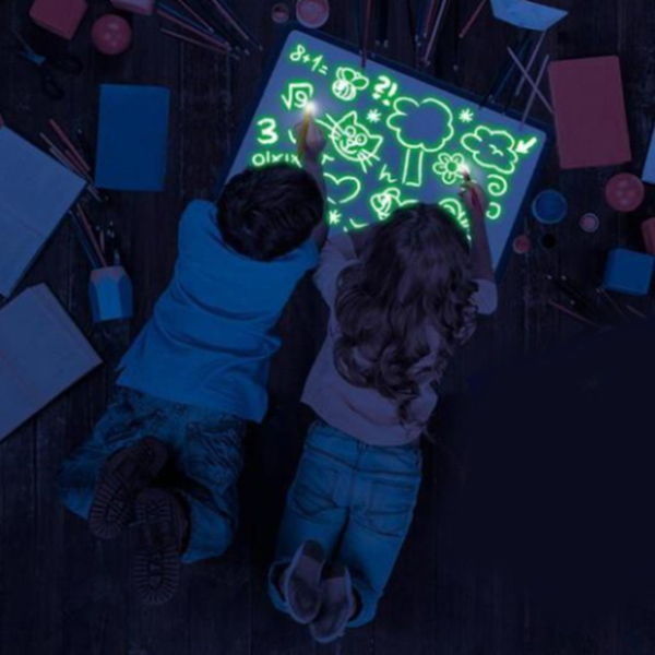 Light up Drawing Fun Developing Toy Draw Sketchpad Board Portable for Children Kids GV99|Art Sets| |  - title=