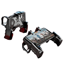 PUBG Mobile Game Controller Gamepad Joystick Metal Trigger Shooting Button Free Fire Game Grip Gamepad For IOS Android Phone pubg controller for games android ios gamepad shortcut button game assisted shooting handle peripheral pubg controller