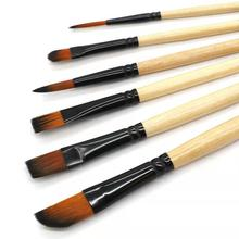 6Pcs Premium Different Shape Round Pointed Tip Watercolor Paint Brush Set for Drawing Watercolor Oil Painting Brush Art Supplies 6pcs wolf hair paint brush set round tip pointed artists paintbrush for watercolor acrylic oil painting art supplies