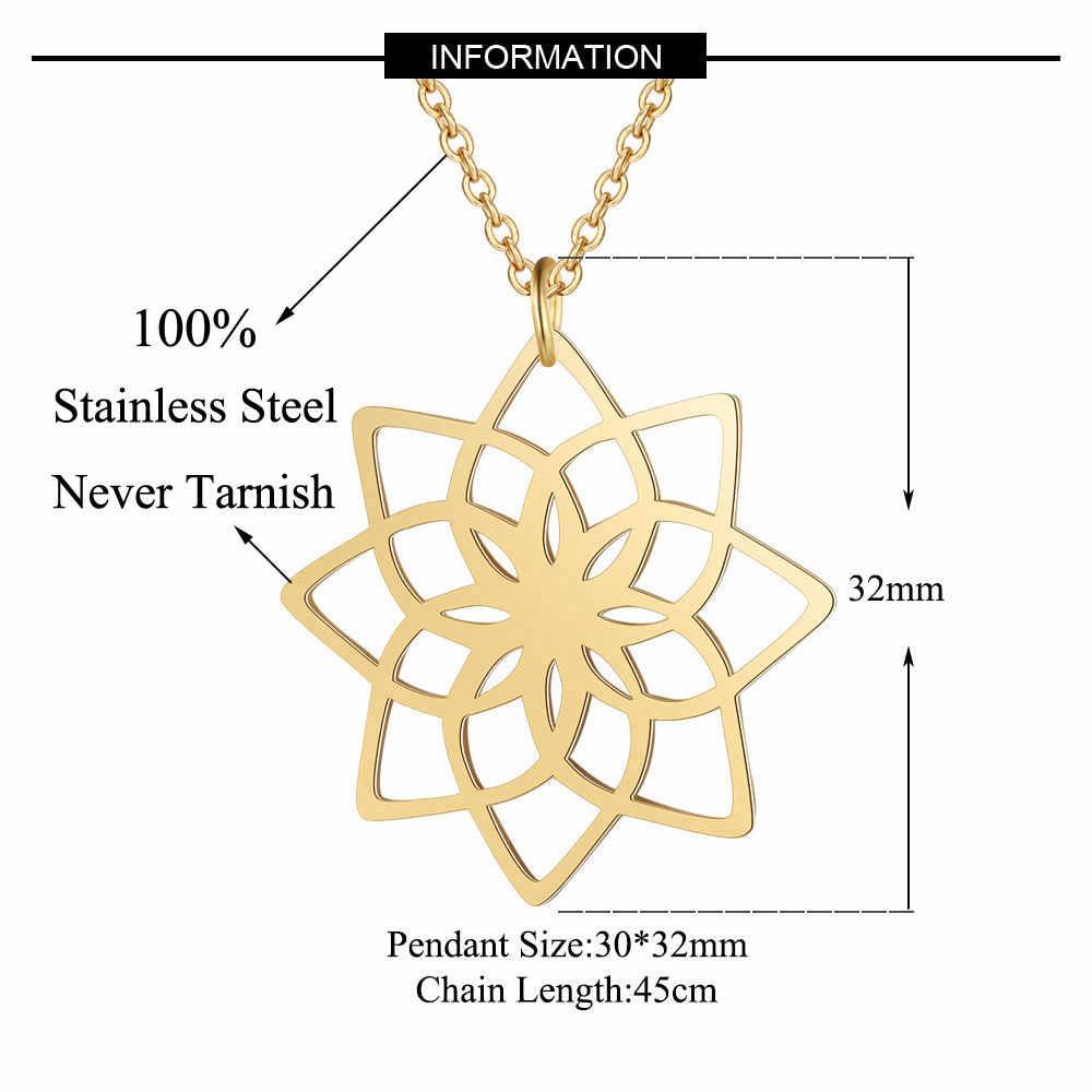 ユニークな葉蓮ネックレス卸売ステンレス鋼の女性のファッションバレリーナ山ペンダントネックレスのドロップシッピング