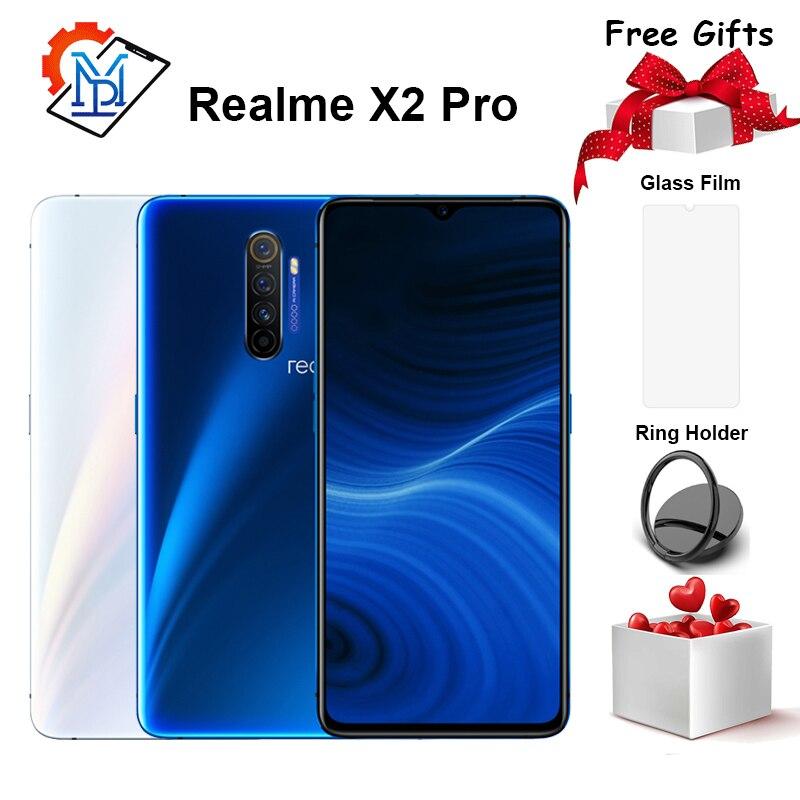 Original realme x2 pro telefone móvel 6.5 polegada 90 hz tela fluida 12 gb + 256 gb snapdragon 855 mais câmera 64.0mp nfc smartphone