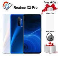 Téléphone portable Original Realme X2 Pro 6.5 pouces 90Hz écran fluide 12 go + 256 go Snapdragon 855 Plus appareil photo 64.0MP Smartphone NFC