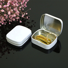 10 X Мини белая жестяная коробка для хранения, металлическая коробка с шарниром, органайзер, чехол, шкатулка, новинка, домашняя шкатулка для ювелирных изделий