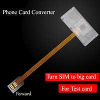 Telefone de Cartão de Cartão Conversor Cartão SIM Universal Virar para Grande Dispositivo de Slot Para Cartão SIM Do Telefone Móvel Aberto