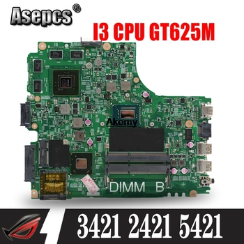 12204-1 Laptop motherboard for DELL INSPIRON 3421 2421 5421 Test original mainboard I3 CPU GT625M Graphics card 8 memory