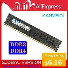 DDR3 ram ddr4 2gb 4GB 8GB 1333mhz/1600MHz 2133 2400mhz 2666mhz 16gb وحدة ذاكرة الكمبيوتر سطح المكتب dimm 1.5V 1.2v جديد KANMEIQi