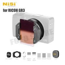 NiSi Hệ Thống Lọc Cho Ricoh GR3 Camera Kính Phân Cực Chống Tia UV GND CPL ND Ống Kính Lọc Bộ Adapter Cho Griii Gr III