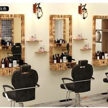 Туалетный столик с зеркалом из массива дерева в стиле ретро туалетный столик с одной стороны, низкий зазор, настенный подвесной парикмахерский специальный салон м