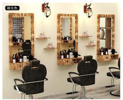 Barber dressing tisch spiegel massivholz retro dressing tisch einzigen seite low freiheit wand hängen haar salon spezielle salon m