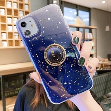 Glitter Magnetic Phone Case For Apple iPhone X XR XS 11 Pro Max 8 7 6S 6 Plus Case Ring Luxury Cover Soft Silicon TPU Cute Cases luxury glitter phone cover for apple iphone x xr xs 11 pro max 8 7 6s 6 plus case cartoon soft silicon tpu i6 i7 i8 back cases