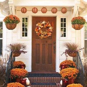 Pumpkin Maple Wreath Autumn Fe