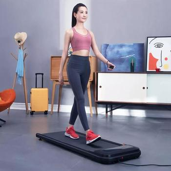 Urevo-caminadora inteligente U1 Ultra delgada, equipo de gimnasio para ejercicio en interiores, Control remoto con pantalla led