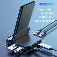 Nouvelle Station d'accueil de moyeu de USB type C pour Samsung S10 S9 Dex Station de protection USB-C vers adaptateur d'alimentation de Dock HDMI pour Huawei P30 P20 Pro