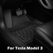 Foot-Pad Protection-Pad-Accessories Floor-Mat Tesla-Model Rubber TPE for 3 Car Waterproof