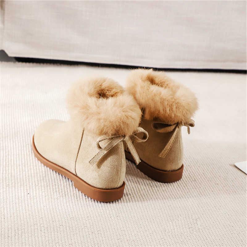 Kadın çizmeler ayak bileği kısa çizmeler akın sivri burun kare topuklu kış patik kadın 2019 üzerinde kayma kadın Martin çizmeler siyah bej