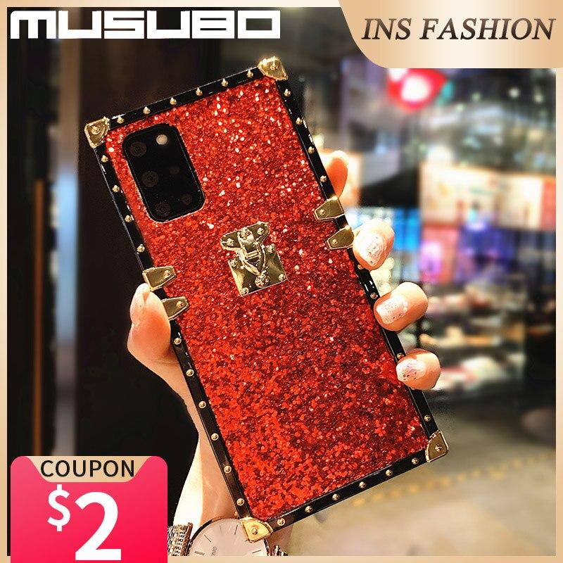 Luxury Glitter Gold Case For Samsung Galaxy A50 A70 A51 A71 A81 M30S A52 5G A32 12 A40S A20S Shining Bling Back Cover Shockproof