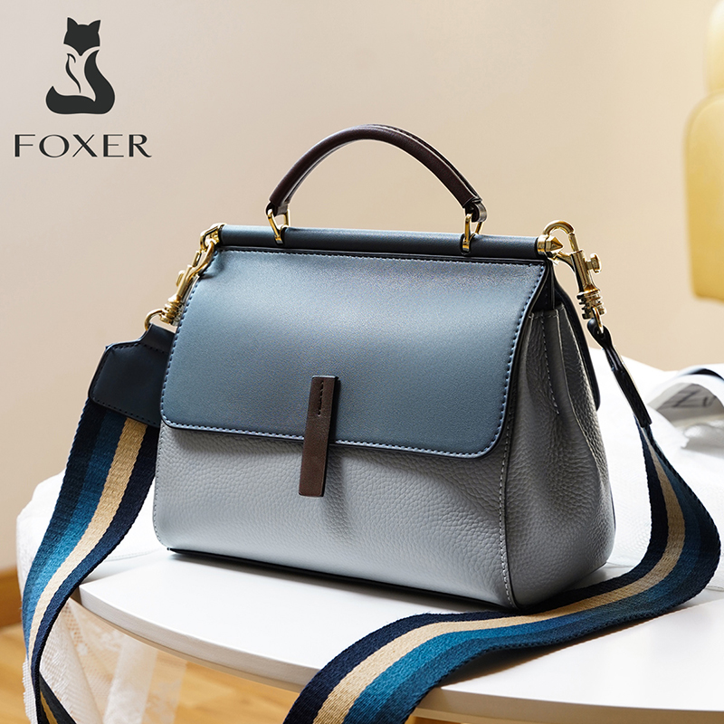 FOXER Lady's Crossbody Bags Genuine Lether Handbag Fall Winter Bag Large Capacity Office Women Tote Commuter Style Shoulder Bag|Shoulder Bags| - AliExpress