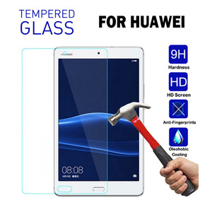 For Huawei MediaPad T5 10 Tempered Glass Tablet Screen Protector For Huawei Mediapad M5 Lite 10 10.8 C5 8.0 M3 M2 10.0 8.4 Film(China)