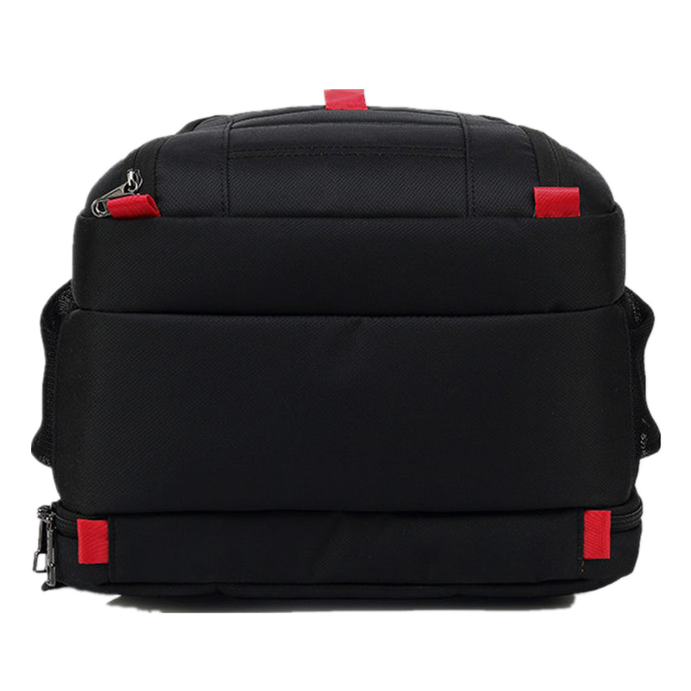 Image 5 - POSO Backpack 17.3 Inch USB Laptop Backpack Nylon Waterproof Backpack Anti Theft Travel Bag Multi function Stundet Backpack-in Backpacks from Luggage & Bags