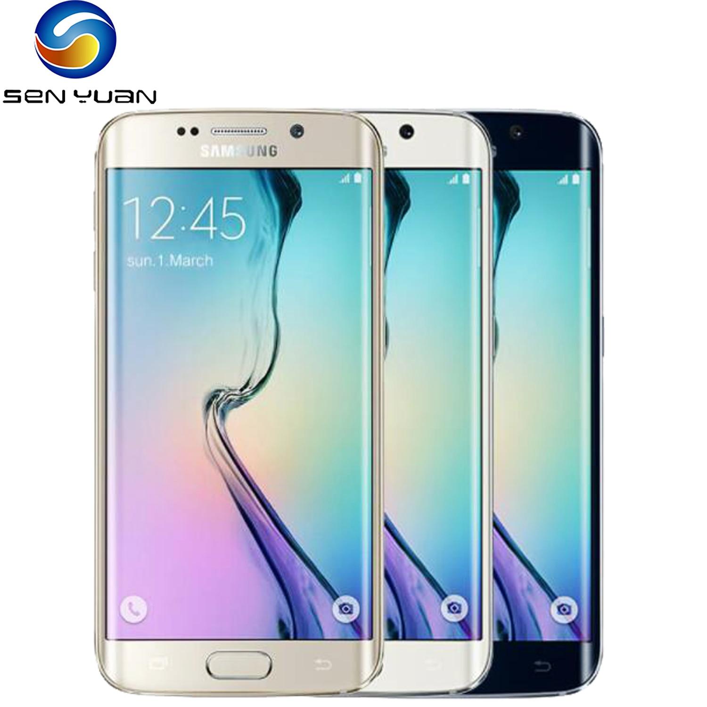 Samsung Galaxy S6 G920F S6 край G925F оригинальный мобильный телефон Octa Core, 3 Гб оперативной памяти, 32 Гб встроенной памяти, емкостный экран LTE 16MP Android 5,0 раз...