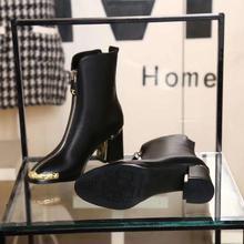 Г., ботинки из мягкой кожи высокого качества короткие женские ботинки на молнии Демисезонные ботинки