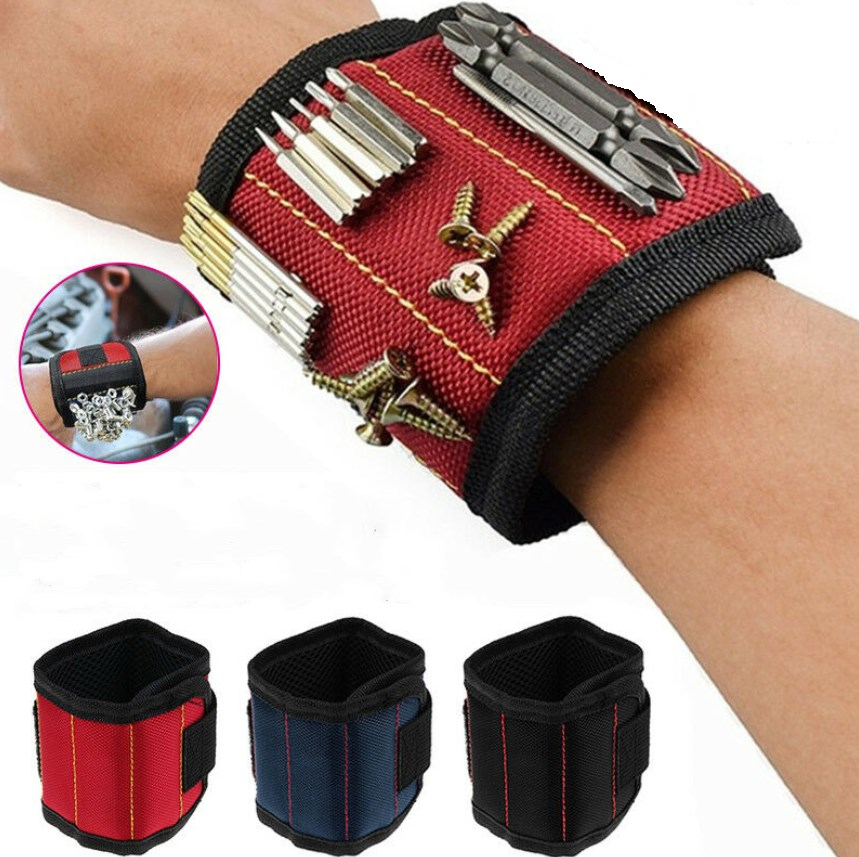Strong Magnetic Wrist Band Wristband Tool Bag Tray Belt Wrist Holding Helper