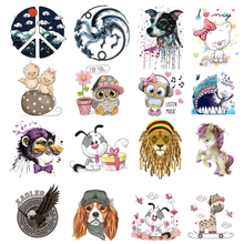 ZOTOONE Cute Cartoon Unicorn Patch for clothing Heat Transfer Clothes DIY Heart Iron on Thermo Stickers Badges Application N