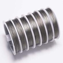 Queue de tigre en acier inoxydable, avec perle de 0.3 à 0.8mm, résistante à l'usure, 1 rouleau/lot, pour collection bijoux à bricoler soi-même