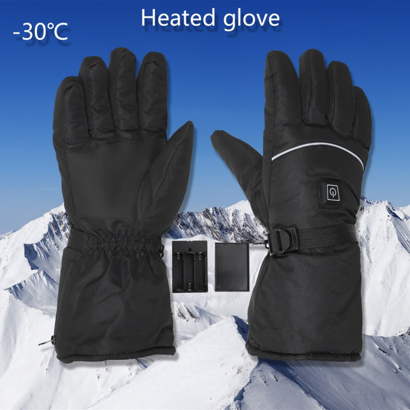 Electric Heated Gloves USB Charging With Temperature Adjustment Batteries Gloves For Skiing Hiking Climbing Driving Cold Weather
